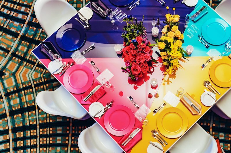 Modern Colorful Table Decor