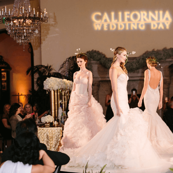 AOO Events produced a fashionable media event for California wedding day with a bridal fashion show