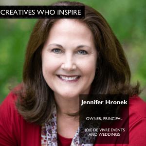 Jennifer Hronek of Joie de Vivre Events