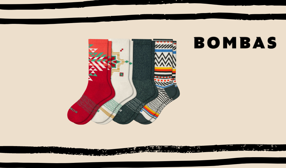 bombas mens christmas socks