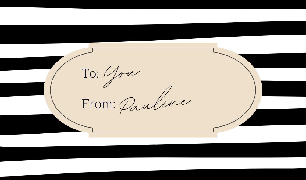 gift guide header striped tag